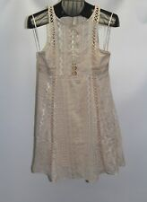 New Free People Ivory Women's Size 0 Wherever You Go Crocheted Mini Dress