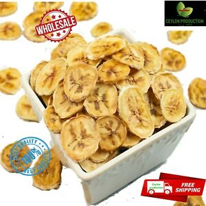 Dried Organic banana fruit chips/coin Slices pure natural premium Quality Ceylon