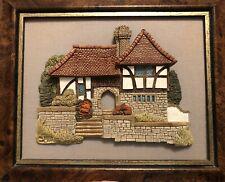 Lilliput Lane Ashdown House Wall Plaque Picture Vintage England Cottage Frame