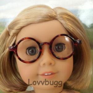 """Round Brown Tortoise Eye Glasses for American Girl 18"""" Doll Accessory LOVVBUGG🐞"""