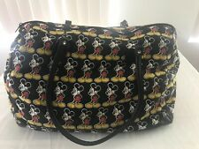 Disney Mickey Unlimited Large Tote Shoulder Bag Black With Mickey Mouse Ts9