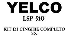 KIT CINGHIE DI RICAMBIO 3 x PROIETTORE SUPER 8 mm YELCO LSP 510