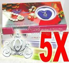 Wholesale 5X different pendants Oyster Wish Pearl Necklace Gift set box-who3622