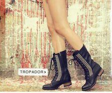 STEVE MADDEN Tropador Studded Combat Boots, Size 6
