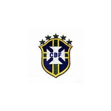 BRASIL 5 STARS SHIELD CBF LOGO FIFA ..CUP IRON-ON PATCH CREST BADGE 3.25X2.5 IN.