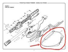 Ryobi Single Soft Shoulder Strap Harness For Pole Hedge String Trimmer 308047001