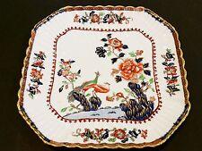 """Vintage Copelands C1815 China England Round Square Plate, 9 1/4"""" X 9 1/4"""" (Rare)"""