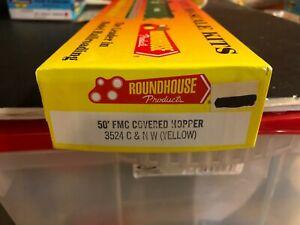 MDC Roundhouse HO 50' FMC Covered Hopper Assembled C & NW Yellow LNIB