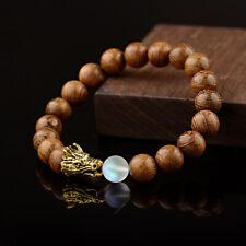 10MM Wood Moonstone Dragon Beads Bracelets Lava Rock Men Women Bracelets Jewelry