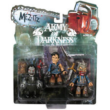 "Mezco ARMY OF DARKNESS EVIL DEAD ASH Mezits 3"" horror toy mini figure set, RARE"