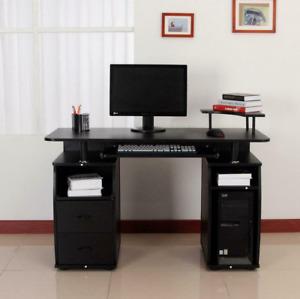Computer PC Desk Work Station Office Home Furniture Raised Monitor & Printer