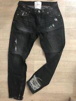 One Teaspoon Trashed Freebirds Jeans 23 24 26 27 28 29 30 31 32 Black Sea NWT