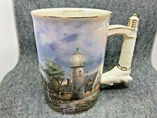 A Light in the Storm Thomas Kinkade Lighthouse Porcelain Coffee Mug 2002