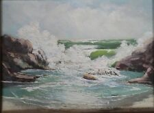 """NICE VINTAGE """"CALIFORNIA COAST"""" SEASCAPE BY LISTED ARTIST """"WC COUVERLEY"""" 1967!"""