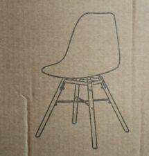 4er Set Nicemoods Dining Room Chairs 53x45, 5x47cm Black Plastic Wooden Legs New
