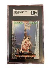 1992-93 Topps Stadium Club Michael Jordan Beam Team #1 SGC 10 Gem Mint Low Pop
