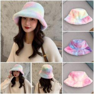 Autumn Winter Bucket Hat Women Fashion Fluffy Fur Hats Ladies Fisherman Hat Cap