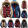 Mens Padded Bubble Fur Hooded Parka Coat Winter Warm Puffer Quilted Down Jacket