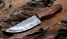 (SSK-90)DAMASCUS STEEL CUSTOM HAND MADE HUNTING KNIFE WOOD HANDLE.ONTARIO