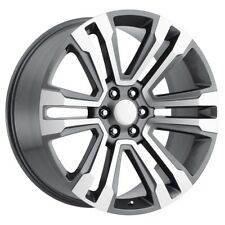 "4) 24"" GMC Denali Style 1500 Sierra Machined Grey Chevy Silverado Wheels 22 26"
