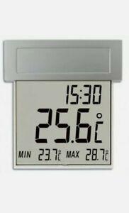 TFA 30.1035 Vision Digital Solar Window Thermometer Outdoor Illuminated Adhesive