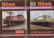 catalogo RÖWA Modelleisenbahnen 1974 1975 Maßstab HO 1:87                 D   bb
