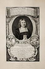 1672 Schertzer Theologe Leipzig Meissen Bautzen Kupferstich-Porträt Romstet