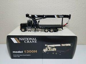 Peterbilt 357 National 1300H Boom Truck - Black - TWH 1:50 Model #048-01036 New!