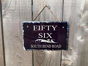 Personalized Home Address Plaque Made with Slate Custom House Number Sign sl10