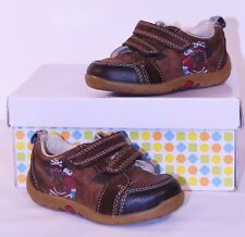 Clarks First Shoes Tan Brown Pirate Leather size UK 4 F  EU 20 Boys Infants BGE
