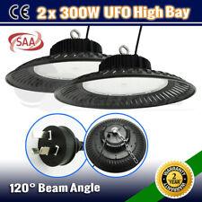 2 x 300W UFO LED HIGH LOW BAY WAREHOUSEWORK SHOP LIGHT FACTORY FLOOD DOWN LAMP
