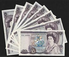Somerset Shakespeare £20 Banknote (1981-84) B350 Clean VF Or Better