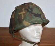 Us Army Military Steel Helmet Vietnam Camouflage Cover & Liner #44