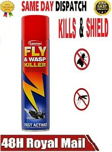 INSECT KILLER SPRAY FLY AND WASP Bugs Wasps Mosquito Fast Acting Pest Control