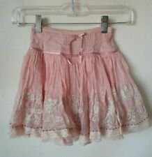 MELI MELI Boutique 3T Skirt Silk full circle ruffle embroidered floral lace
