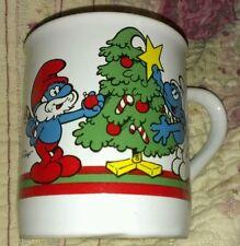 Vintage SMURFS 1981 Merry Christmas MUG / Cup