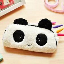 Cute Panda Soft Plush Pencil Case Pen Pocket Cosmetic Makeup Zipper Bag Pouch UK