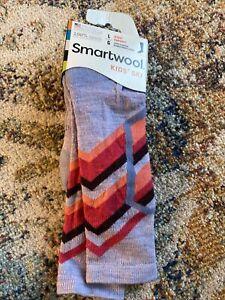 NWT Smartwool Kids Wintersport Ski Socks Sz L Racer Purple Mist New
