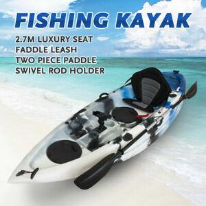 Fishing Kayak Single Sit-on Kayak Canoe Holders Padded Seat Paddle Sale Ocean
