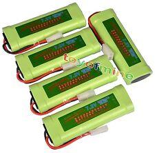 5 pcs 7.2V 3800mAh Ni-Mh rechargeable battery pack RC w/ Tamiya Plug USA