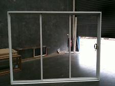 Aluminium Sliding Stacker Door 2100h x 2670w White. IN STOCK. INCLUDES REVEALS
