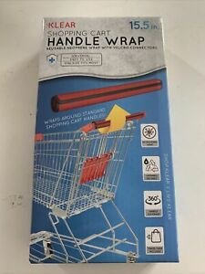 New KLEAR Shopping Cart Handle Wrap Reusable Guard Cover Red