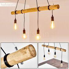 Vintage Hänge Leuchte Pendel Lampe Holz Ess Wohn Schlaf Zimmer Raum Beleuchtung