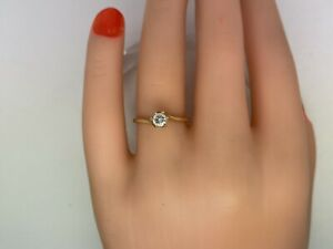 .25CT I1 Clarity G-Color Natural Diamond 14kt Yellow Gold Size 6.75