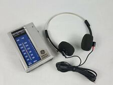 Vintage General Electric GE Pocket AM/FM Stereo Headset Radio 7-1625A WORKING