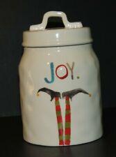 Rae Dunn / Magenta Joy Elf Feet Ceramic Christmas Holiday Snack Canister