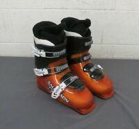 Salomon T3 Youth Downhill Ski Boots Orange & Black Mondopoint 26 US Men's 8
