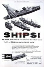 1958 REVELL Model Ship Kit AD 'S.S. United States' - Original Print ADVERT