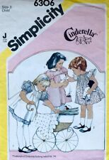 Vintage Simplicity Pattern 6306 | Girls Sweet Retro Pinafore and Dress | Sz 3