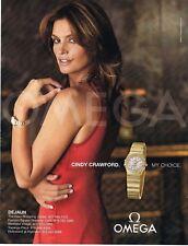 2005 Cindy Crawford Omega Watch Ad